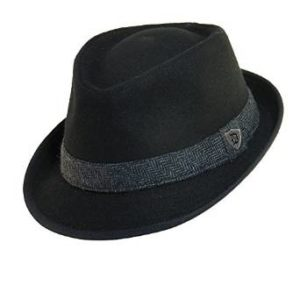 7ca9c260ae250 Premium Multi Color Plaid Stitch Black Band Fedora Hat - Different Colors  Blue HT1510-Blue