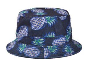 3faadf92749 Soyagift Ladies Headwear Pineapple pattern Wide Rim Flat top fishing Bucket  Hat