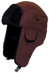 7d9b4732a2776 Best Winter Hats Adult Russian Aviator Faux Suede Leather w Faux Fur. Best Bomber  Hats for Men