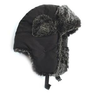 f47eaa4dcb320 City Hunter Checkered Jacquard Trapper Bomber Cap Hat w Faux Fur