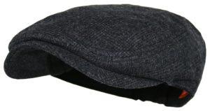 4ea059010f0 Men s Herringbone Wool Tweed Newsboy Ivy Cabbie Driving Hat