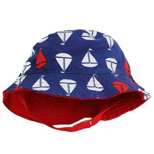 Bucket Sun Hat for Baby Boys with Chin Strap