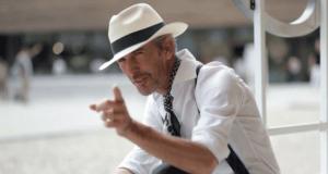 man in panama hat