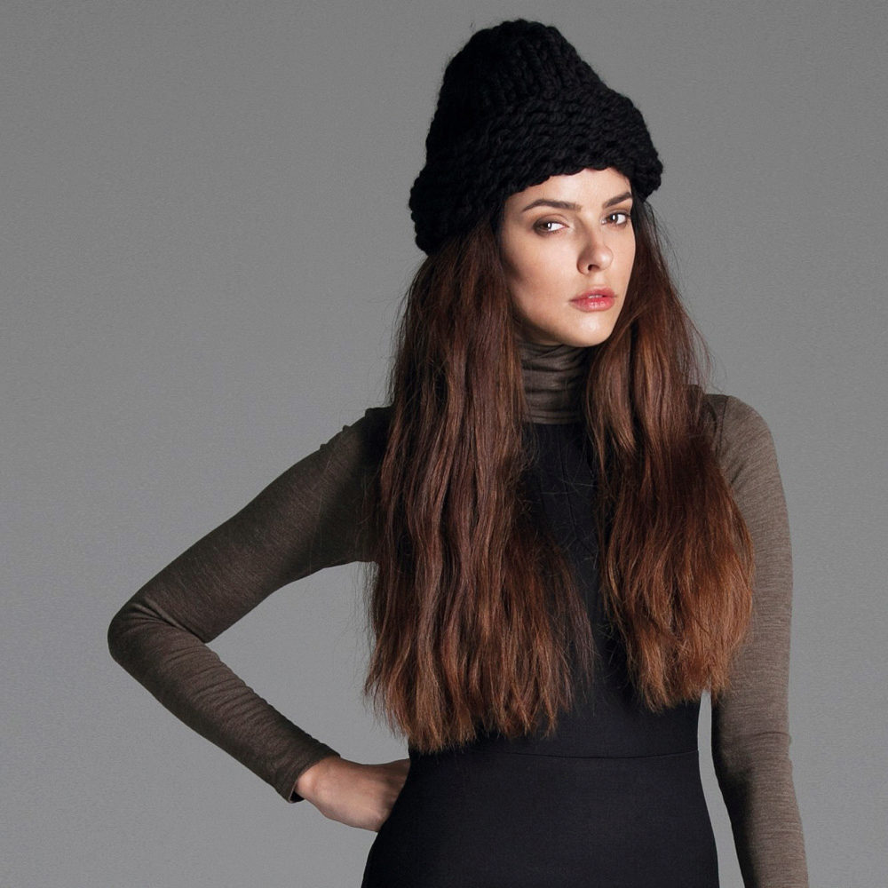 cone knitted hat