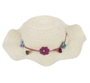 girls summer straw sun hat