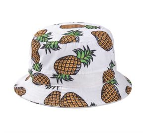 girls head wear pineapple pattern wide rim flat top