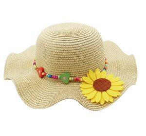 Large brim straw hat for kids