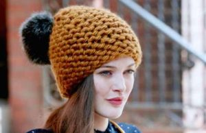 thick yarn hat for women
