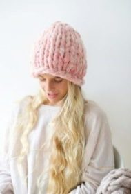 very thick yarn hat for girls