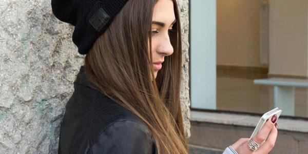 wireless headphones black hat for women