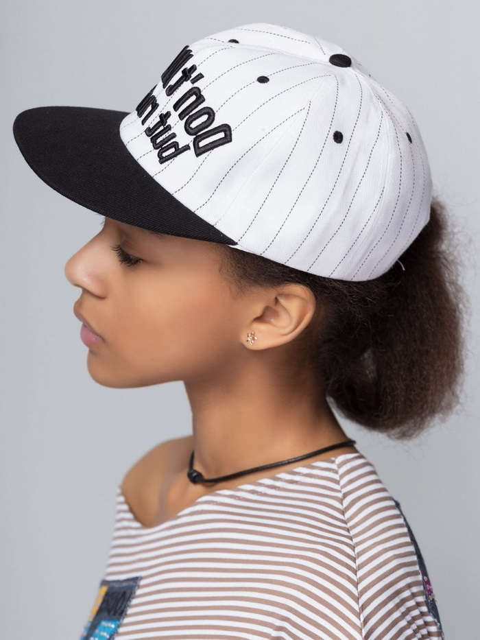 black and white cap girl