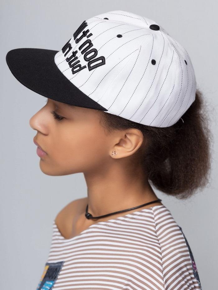 black and white cap girl