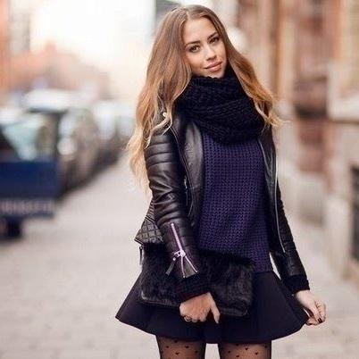 black color scarf hat best color