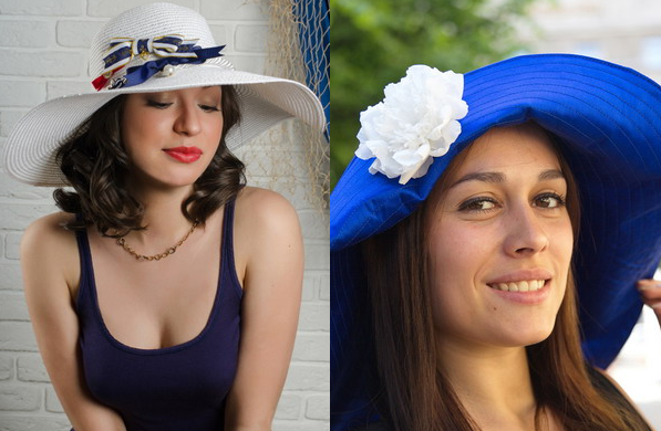 blue and white summer hats 2017