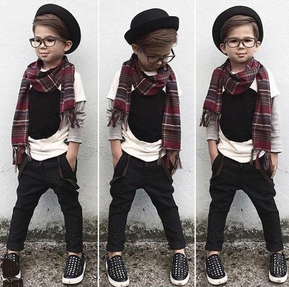 cute young kids hat with glasses