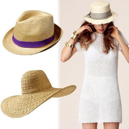 different kind of straw hat