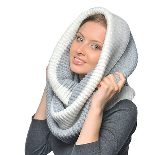 fashionable embroided scarf hat