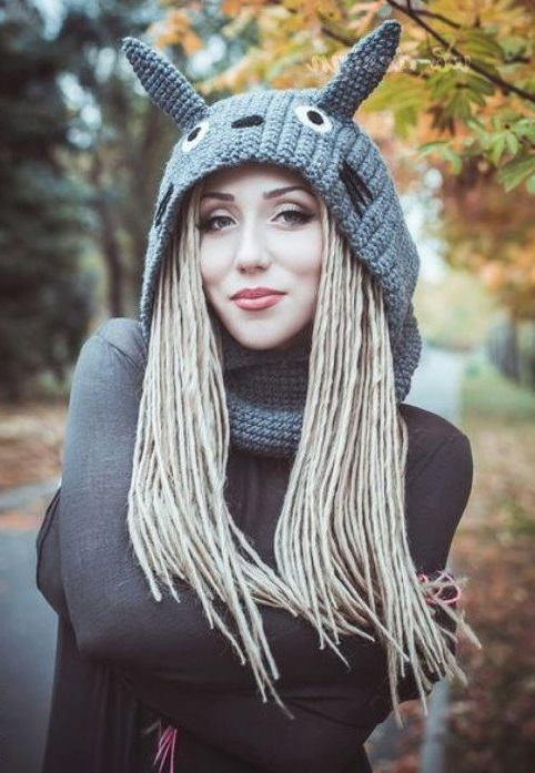 funny animal shaped scarf hat
