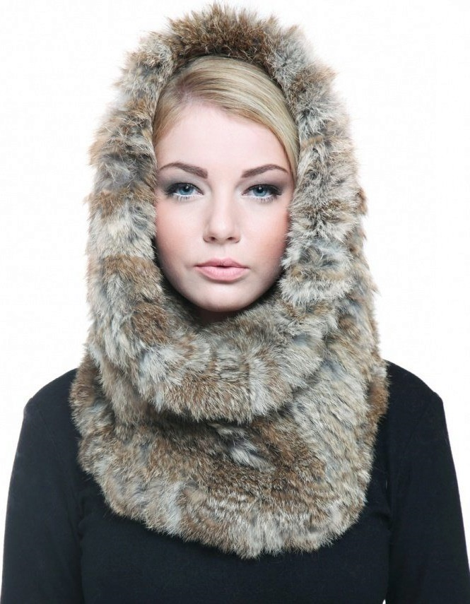 fur hat scarves