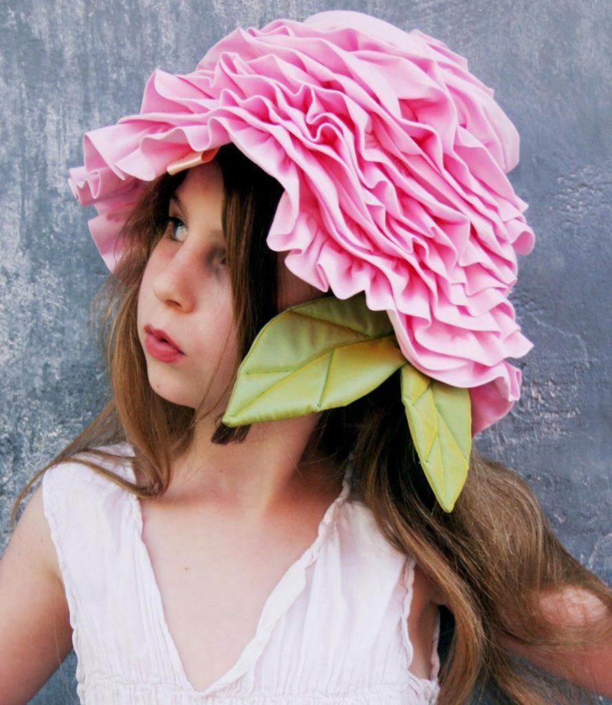 homemade flowery hat for girls