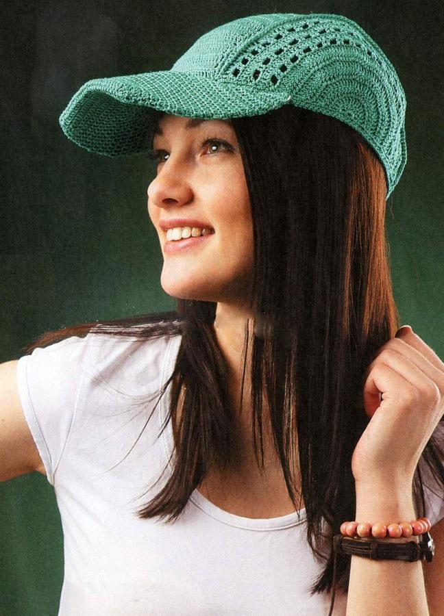 knitted baseball cap