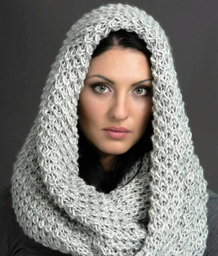 knitted cap scarf