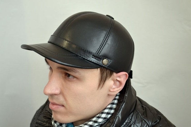 leather baseball cap men