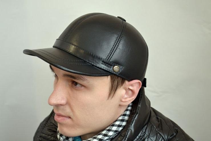 leather baseball cap men