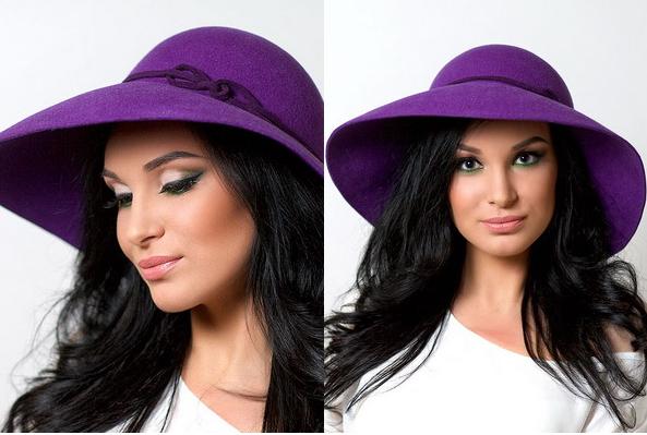 purple colored women summer hat 2017
