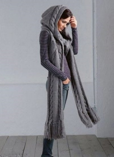 scarf hood stylish scarf clothing