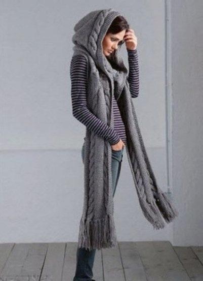scarf hood stylish scarf clothing