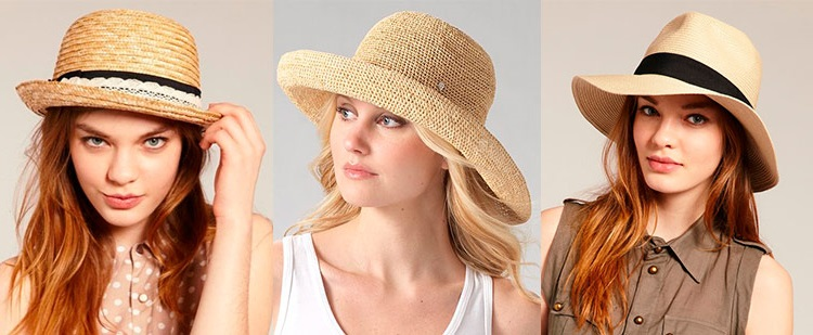 straw hat as best fashionable headdress