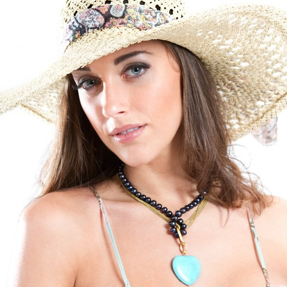 stylish hat with accesssories