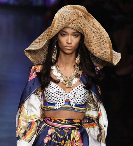 stylish straw hat with women dress