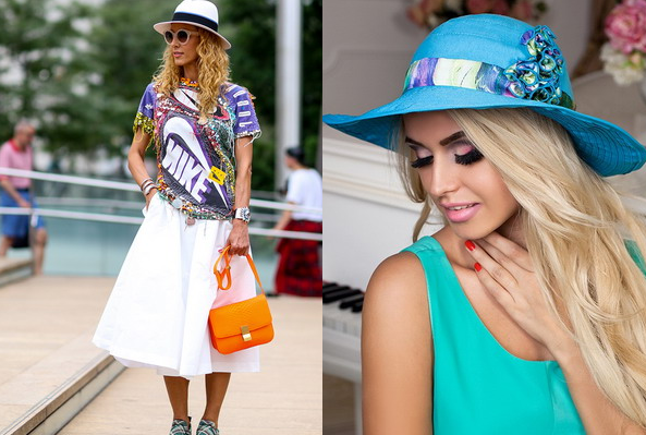 summer hats according to the face and appearance