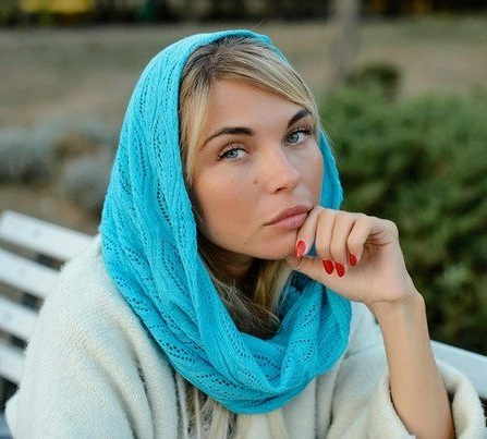 turqioise color scarf cap