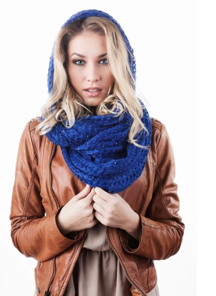 universal blue color scarf cap