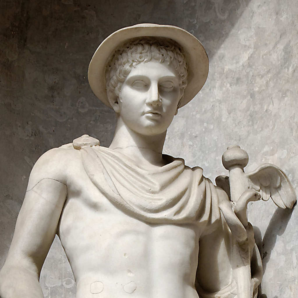 Statue of Hermes in Petatos