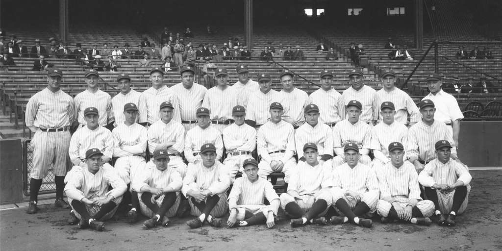 A picture of Yankees baseball team in 1927