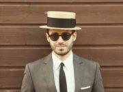men's boater hat