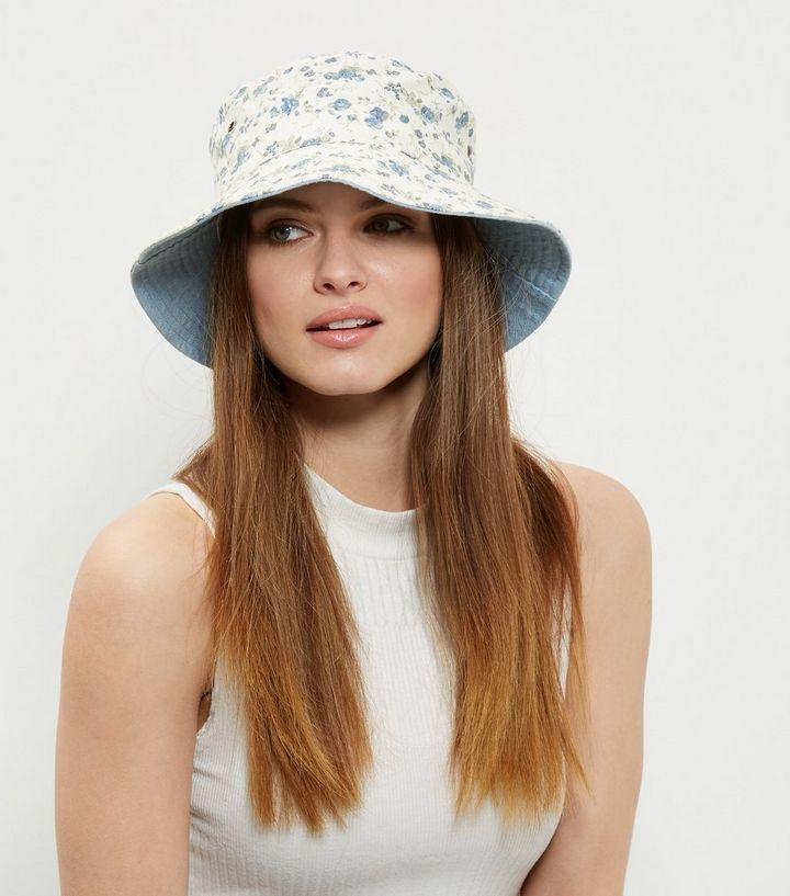 floral-print bucket hat